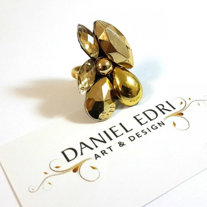 טבעת מניפה זהב