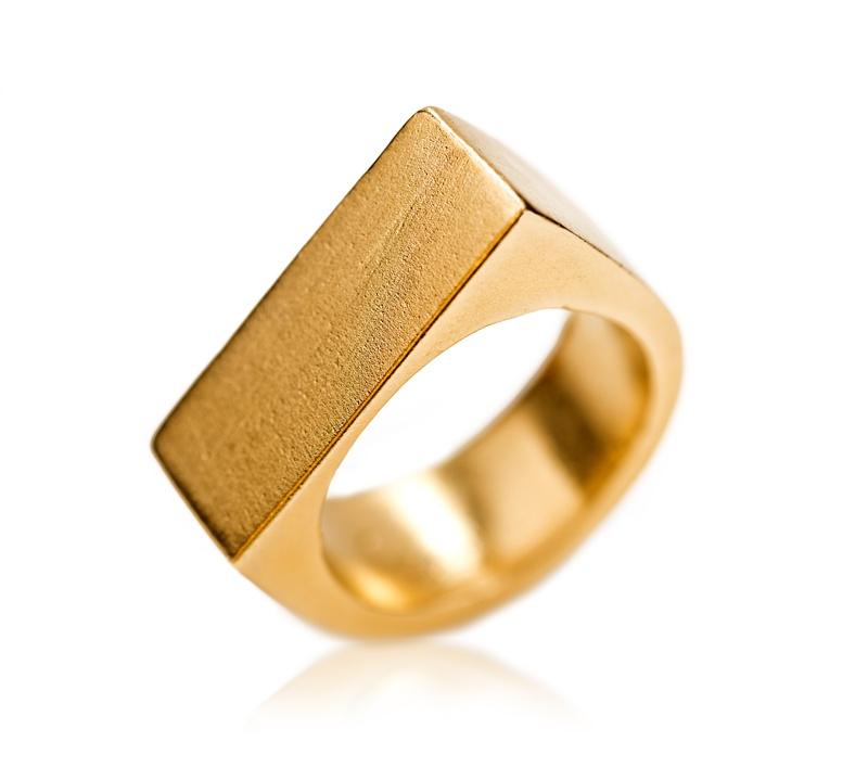 טבעת חותם פול זהב