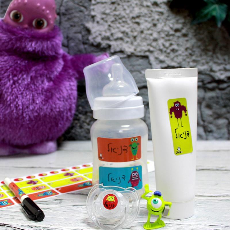 מדבקות טושטוש - דגם מפלצות