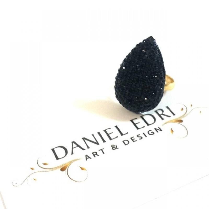 טבעת טיפה שחורה