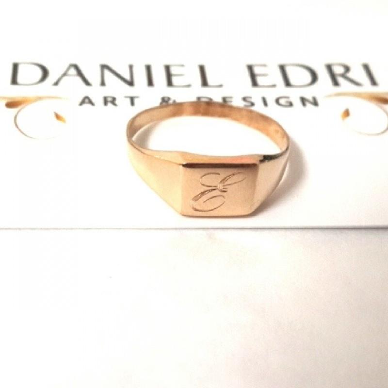 טבעת ריבוע מיני חותם
