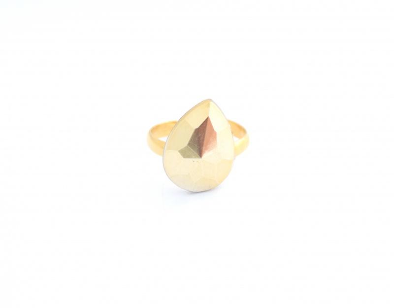 טבעת טיפה זהב