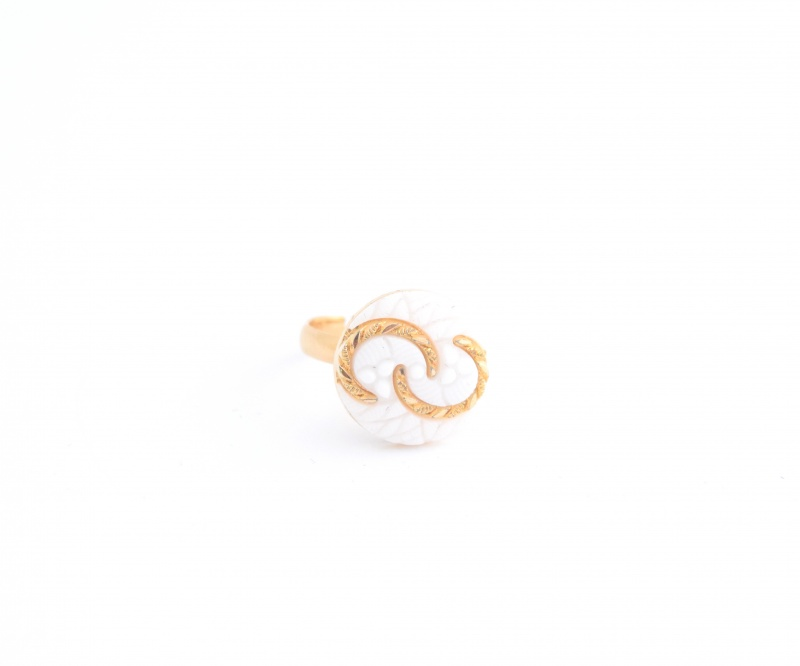 טבעת Candy לבנה