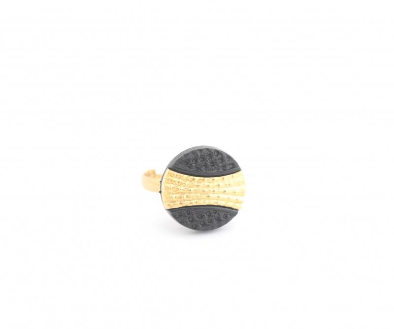 טבעת קלי שחורה