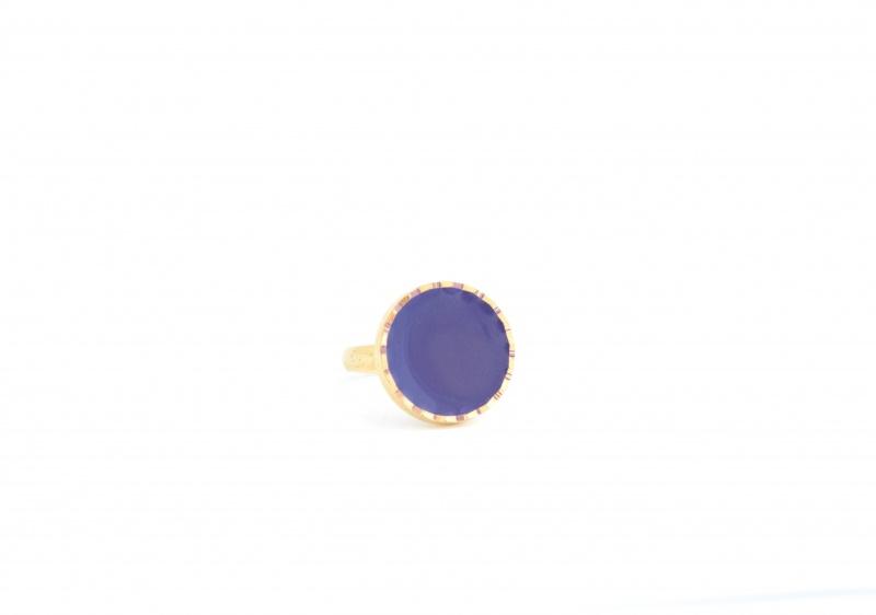 טבעת אמייל סגול