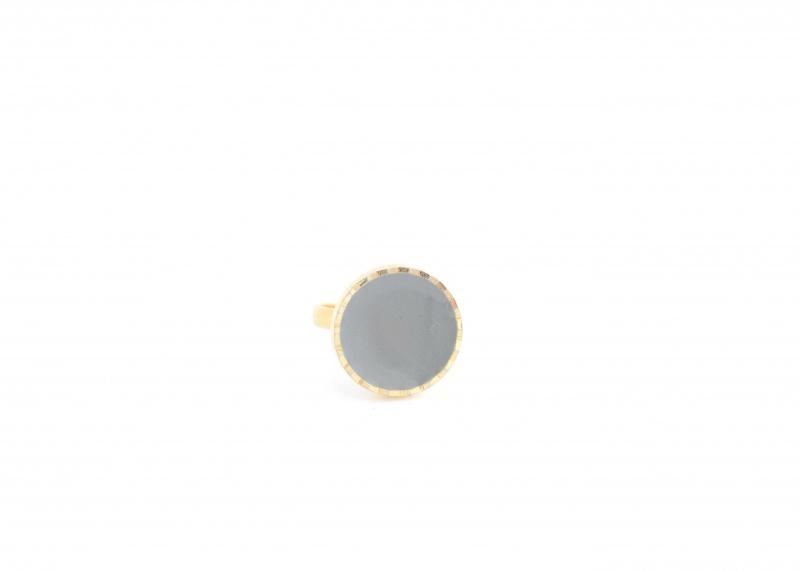 טבעת אמייל אפור