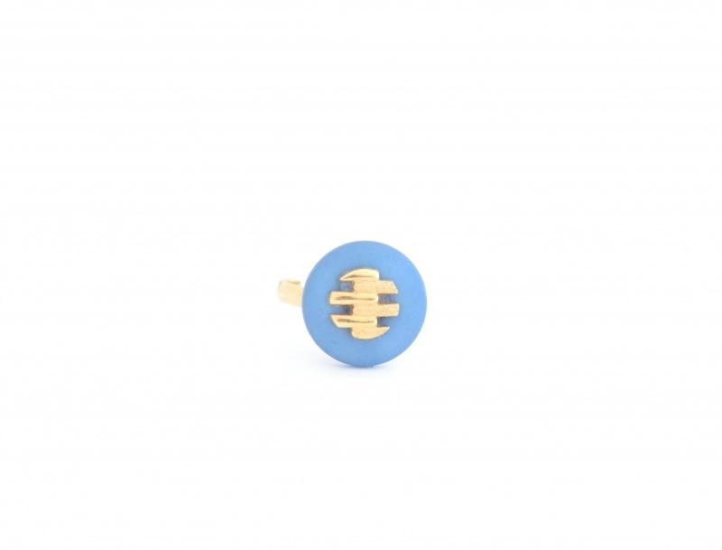 טבעת וינטג' כחול