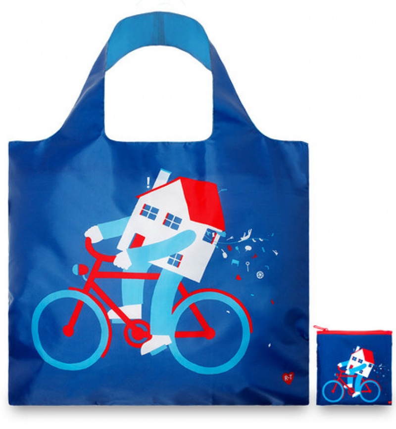 תיק אקולוגי דגם בית על אופניים
