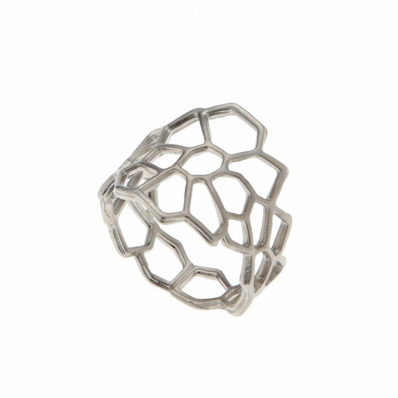 טבעת רשת כסף