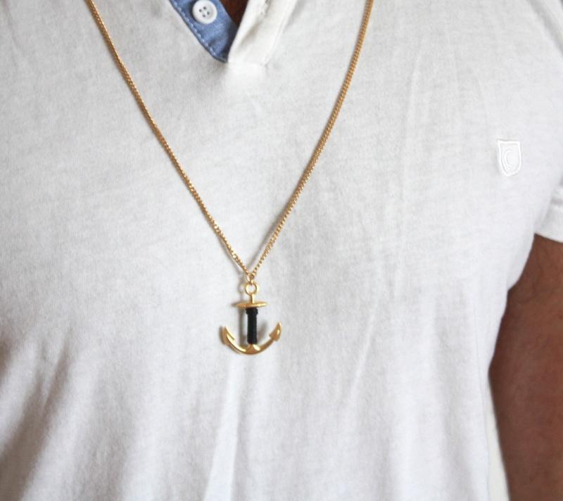 שרשרת לגבר - שרשרת עוגן לגבר - שרשרת זהב לגבר - שרשרת ארוכה לגבר - תכשיטים לגבר