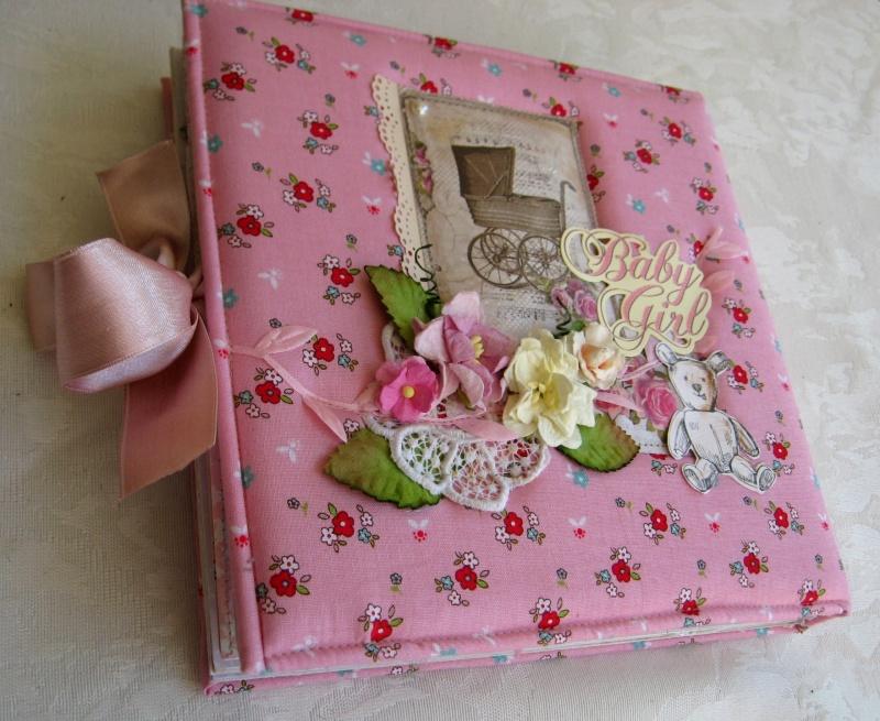 אלבום לתינוקת כריכת ספר עטוף בד