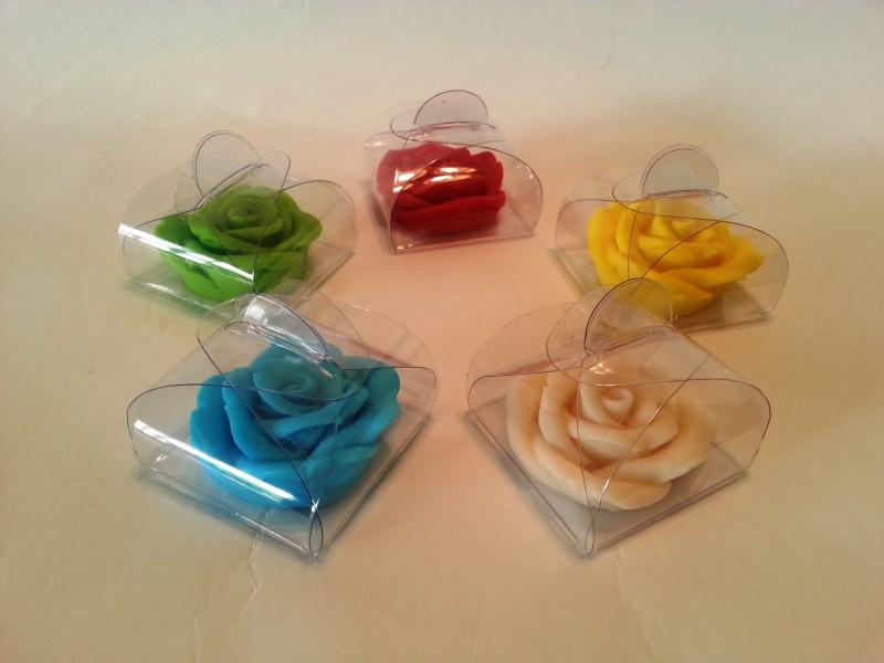 פרח סבון ריחני במעטפת PVC