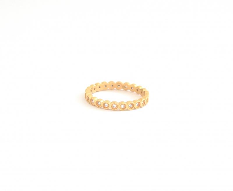 טבעת אסיה סברובסקי גולדפילד