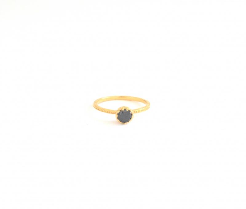טבעת גולדפילד אבן שחורה