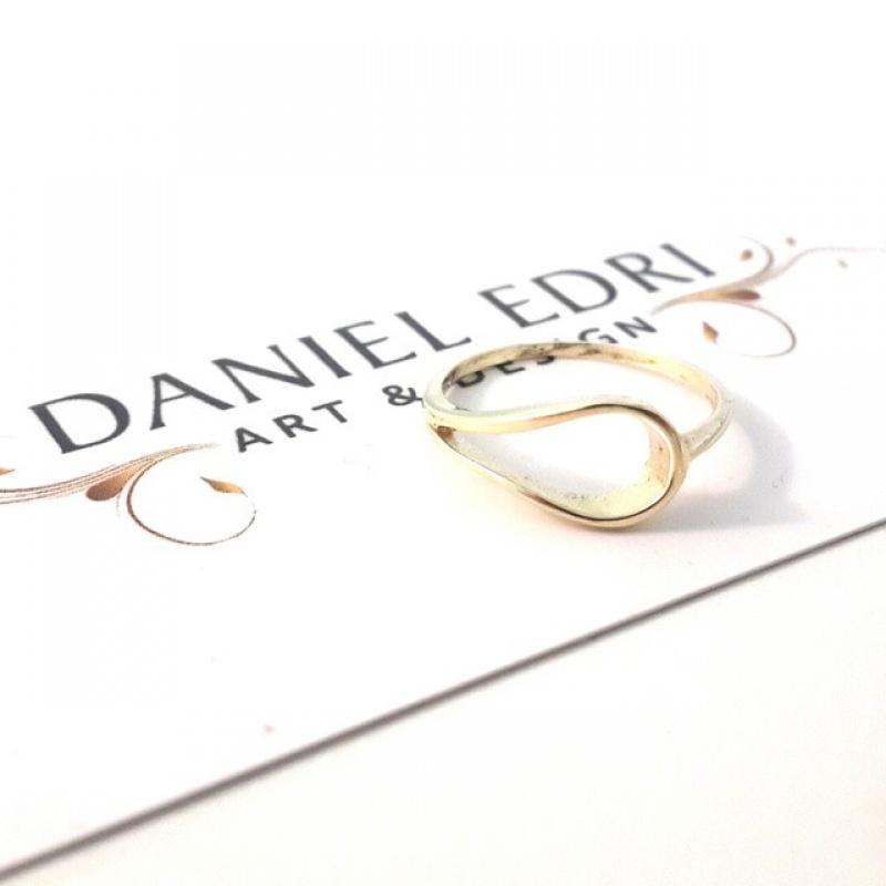 טבעת טיפה חלולה גולדפילד