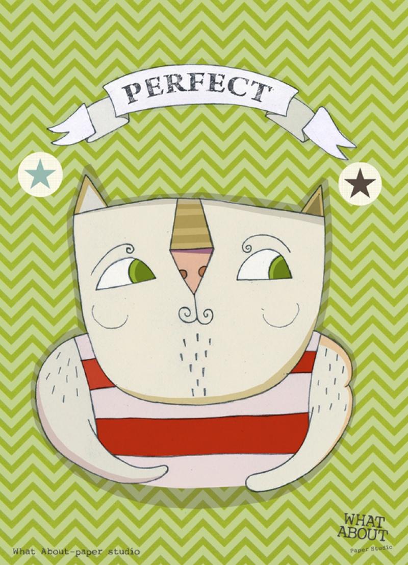גלויה למסגור חתול מר מושלם