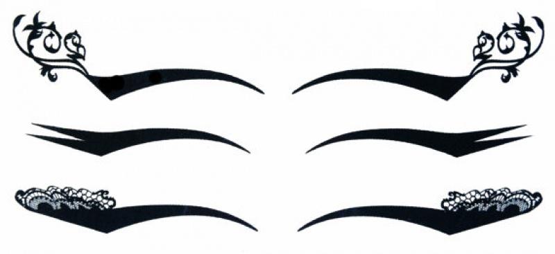 2 מארזי שלישיית קעקועים זמניים- איילינר מעוטר לפורים  Temporary eyeliner