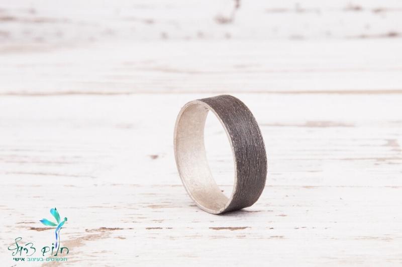 טבעת כסף מושחרת