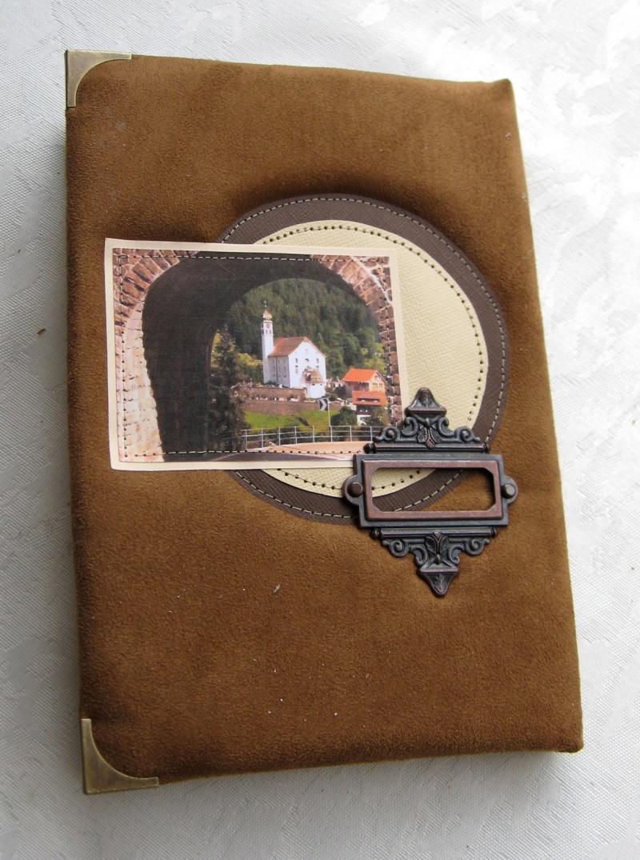ספר/ יומן מהודר כריכת עור קטיפתי + קופסא דגם פרובנס