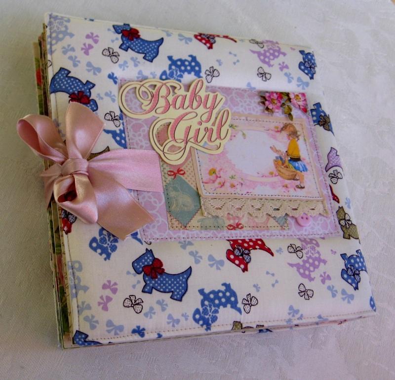 אלבום לתינוקת כריכת בד דגם Baby Girl