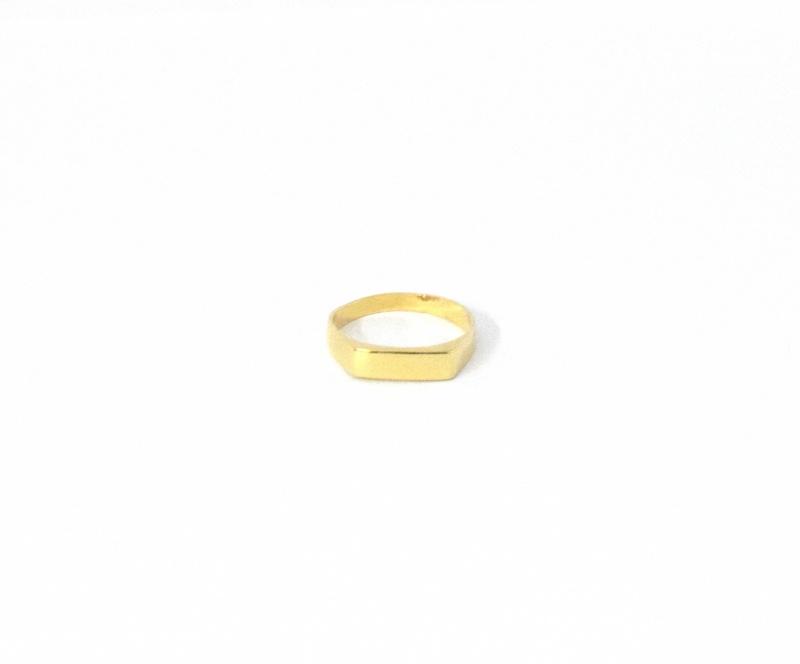 טבעת חותם גולדפילד עם חריטה-מלבן