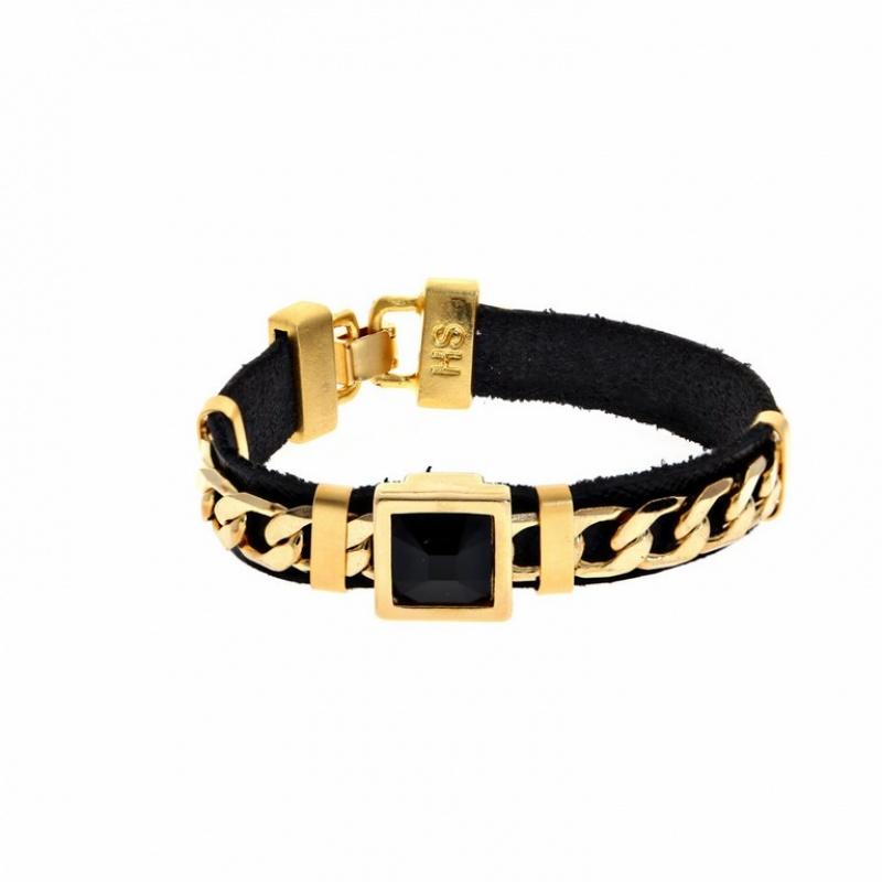 צמיד קוקטייל זהב שחור