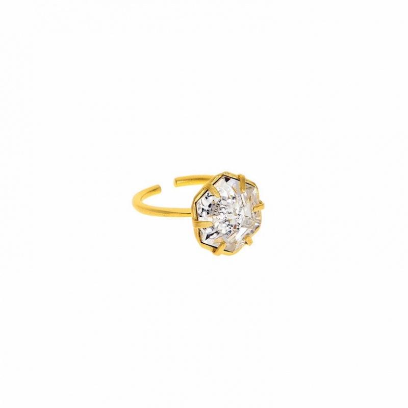 טבעת קינגסטון זהב עם אבן silvershade