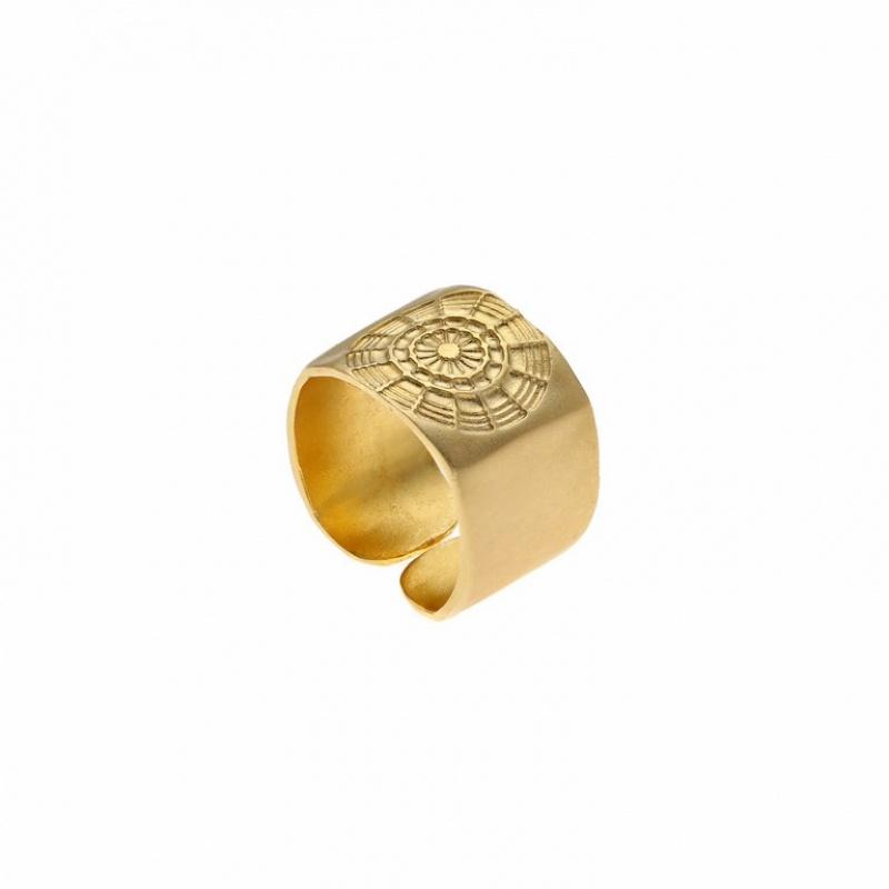 טבעת מעגלים זהב