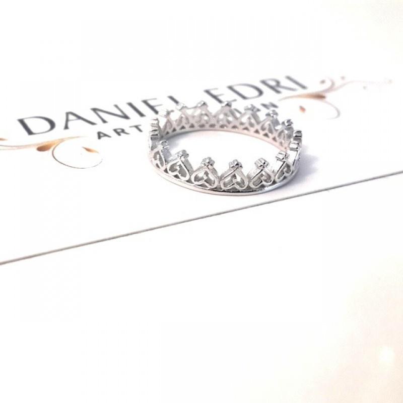 טבעת כתר 2 כסף