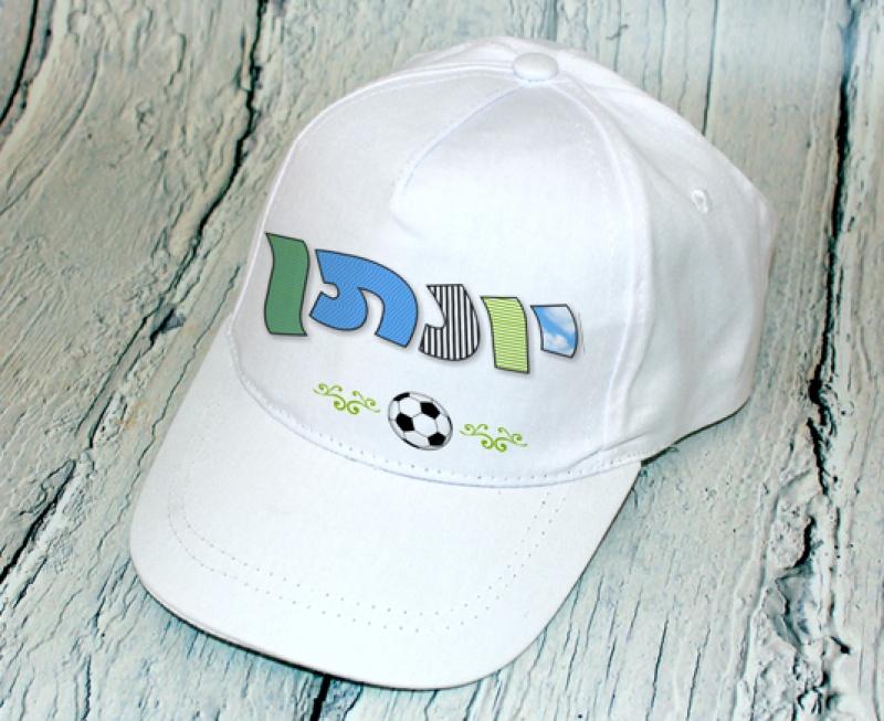 כובע מצחיה - דגם כדורגל