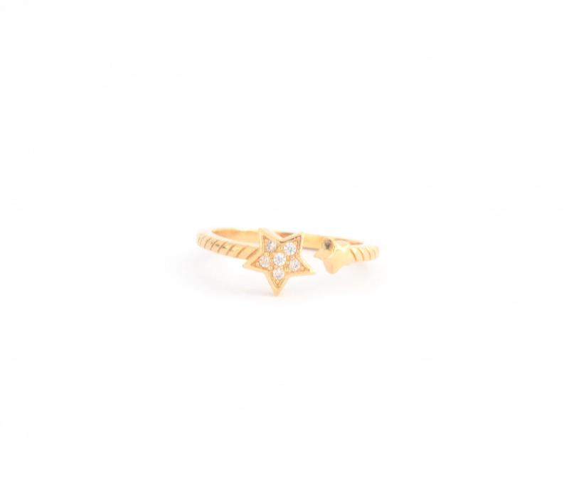 טבעת כוכב סברובסקי גולדפילד