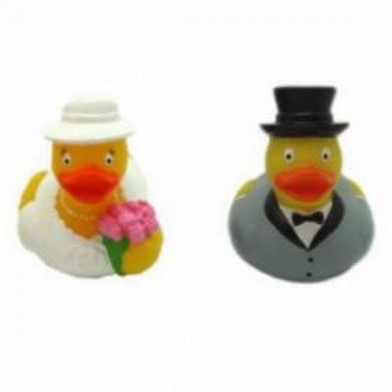 זוג ברווזים מיני חתן וכלה