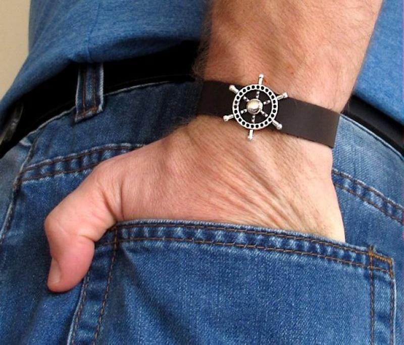 צמיד לגבר - צמיד עור לגברים - תכשיטים לגברים - מתנה לגבר שלך - צמידים לגברים עבודת יד