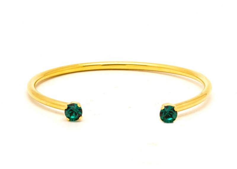 צמיד אן זהב - ירוק אמרלד