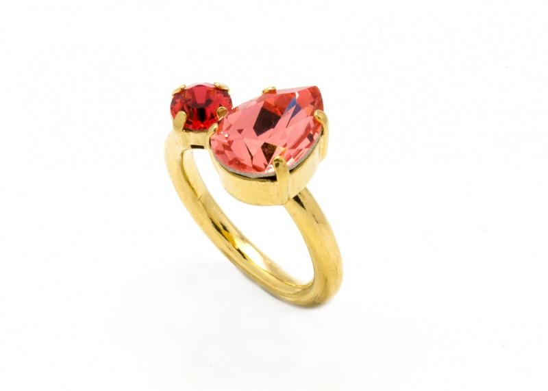 טבעת קייט זהב - קורל