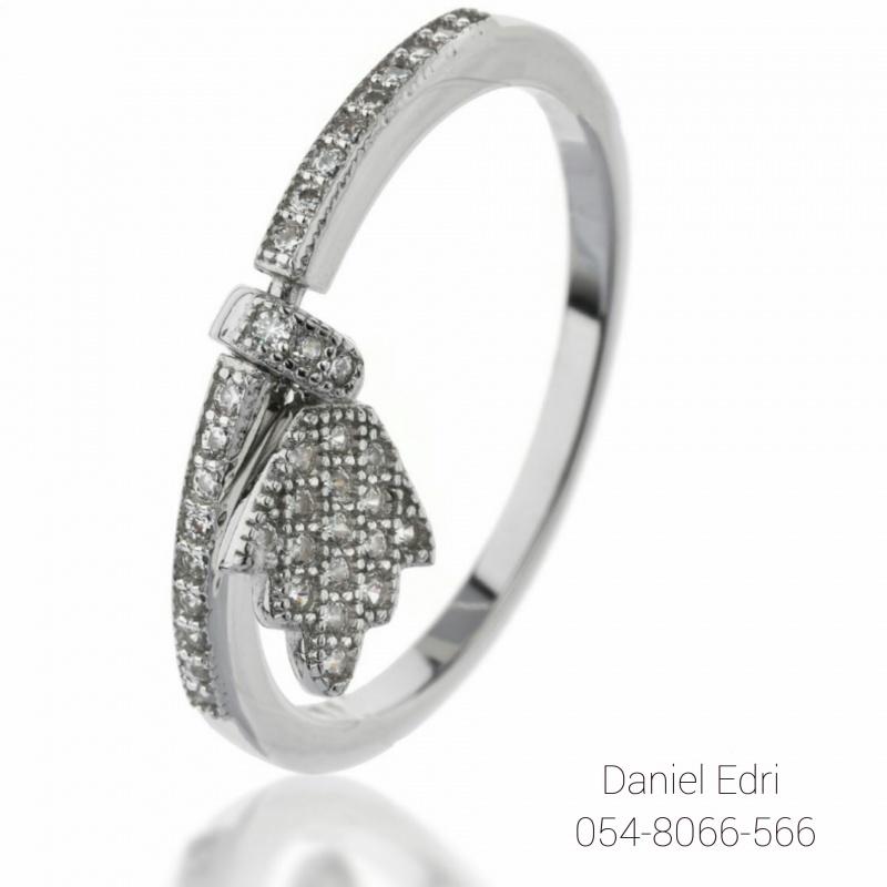 טבעת חמסה נופלת כסף
