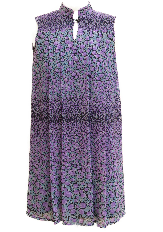 שמלת סנדרה סגולה