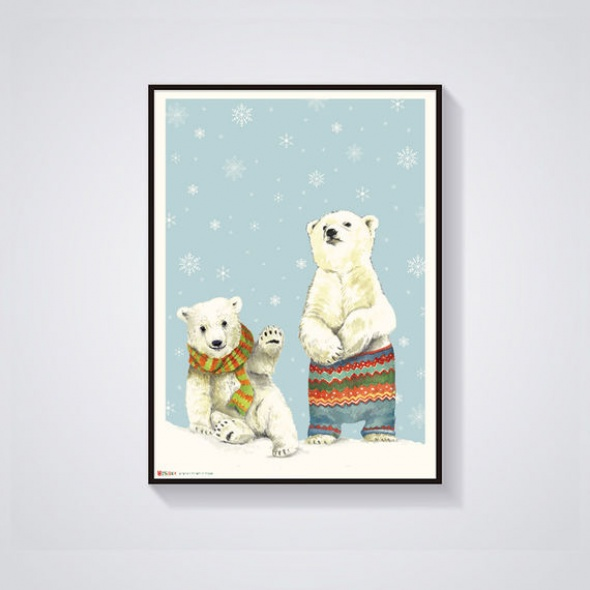 גלויה דובים