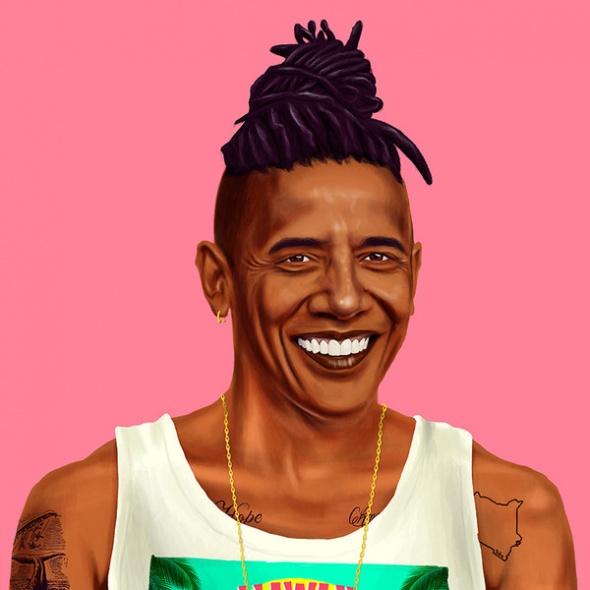 אובמה היפסטר גלויה קטנה