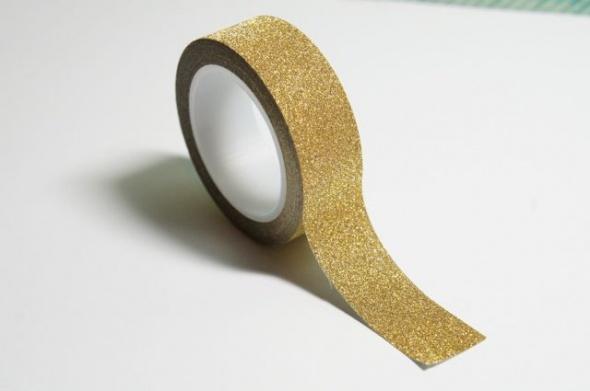 וואשי טייפ נצנצים- גליטר זהב