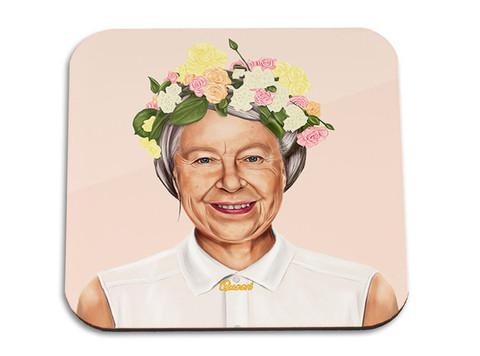 המלכה אליזבת' היפסטרית תחתית לכוס