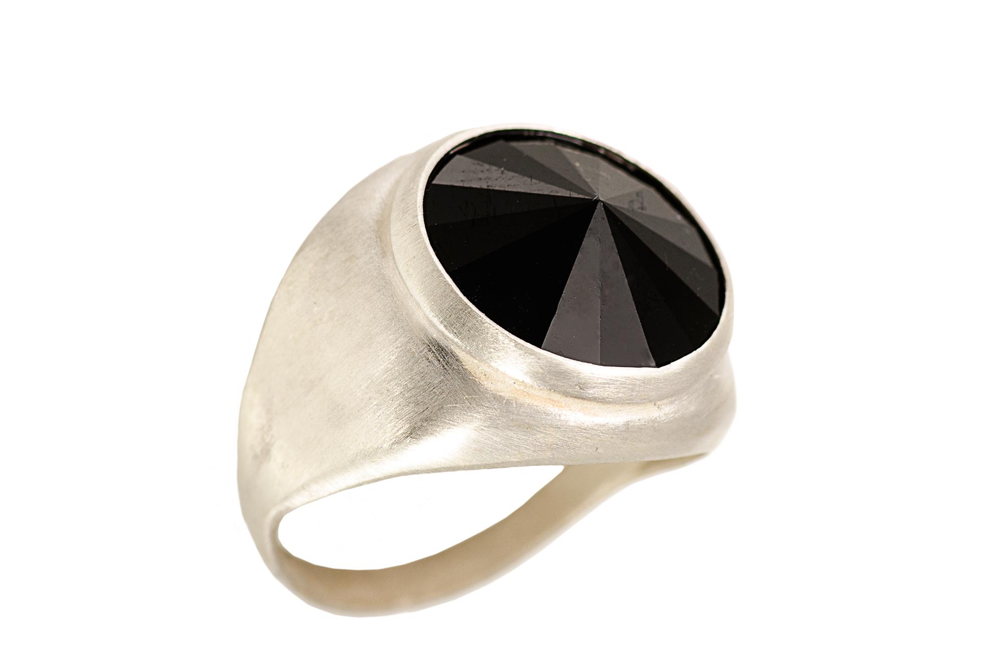 טבעת Hope כסף שחור