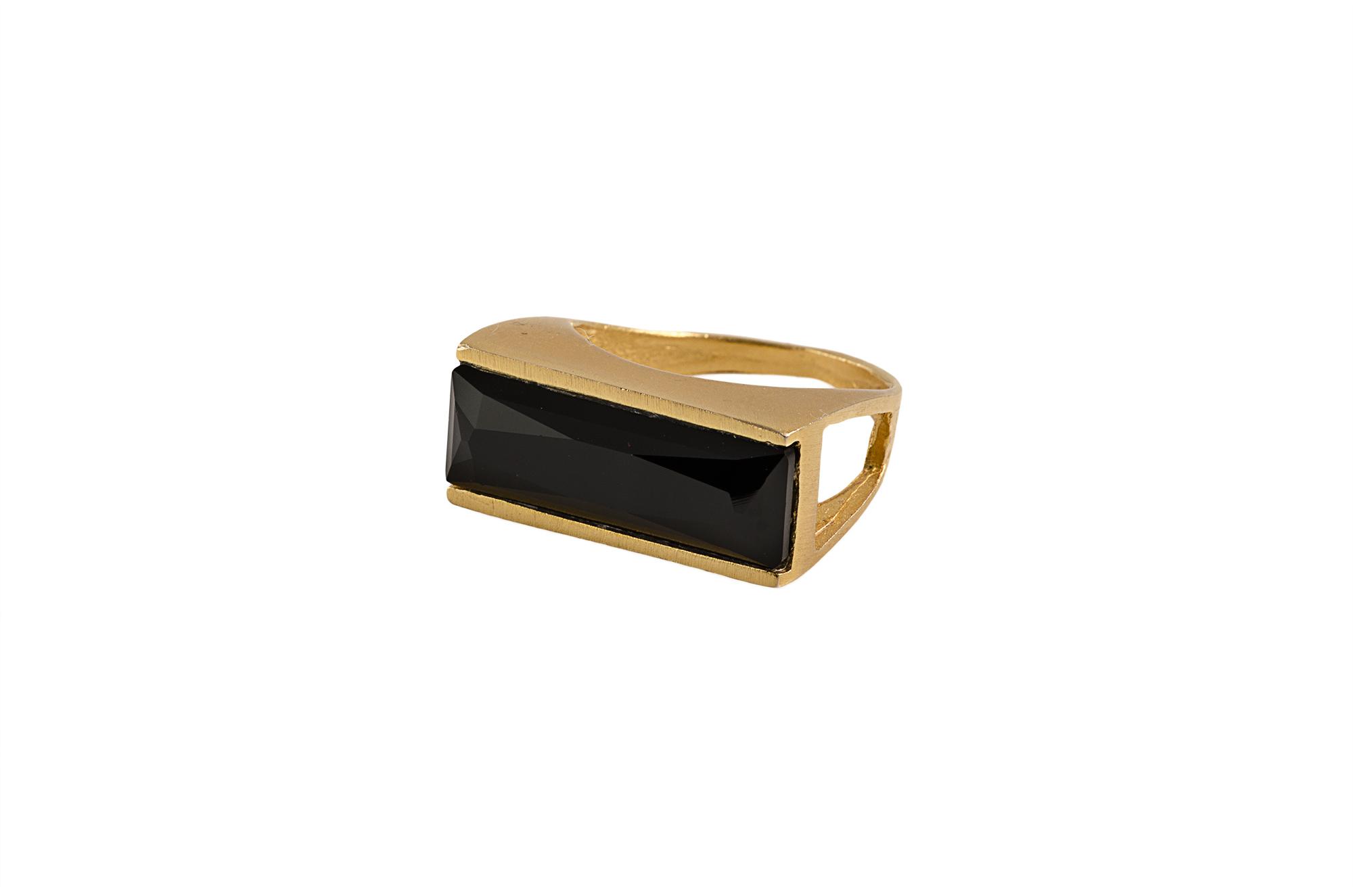 טבעת power זהב שחור