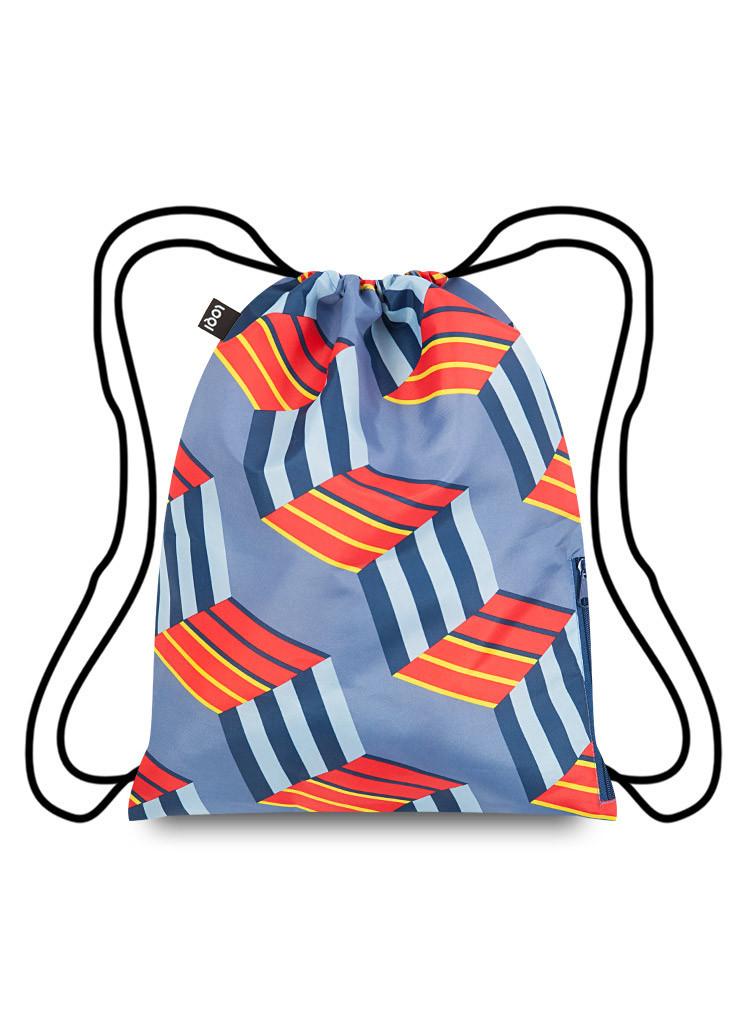 תיק גב דגם קוביות (נראה תלת מימדי)