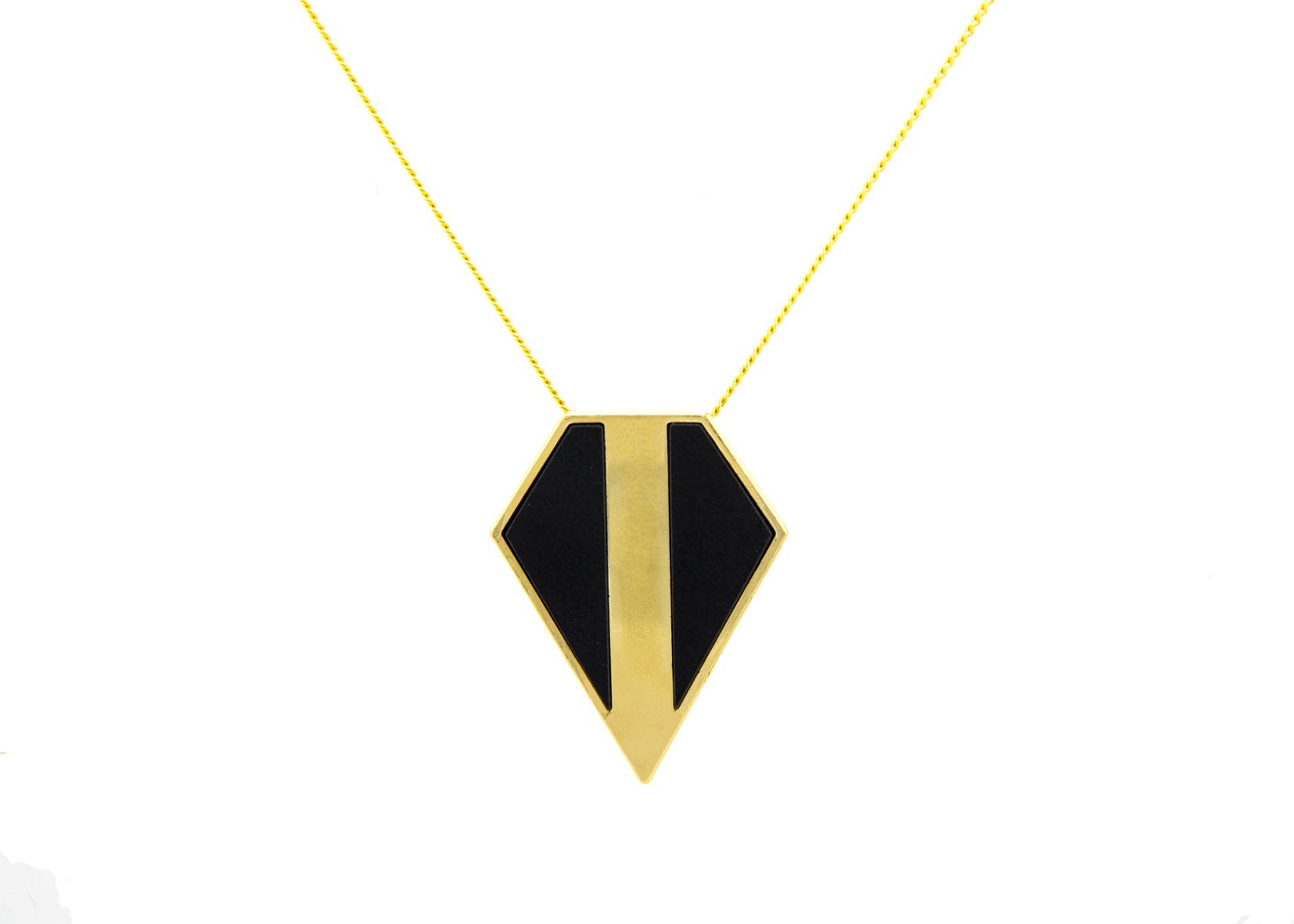 שרשרת פסקל זהב - שחור