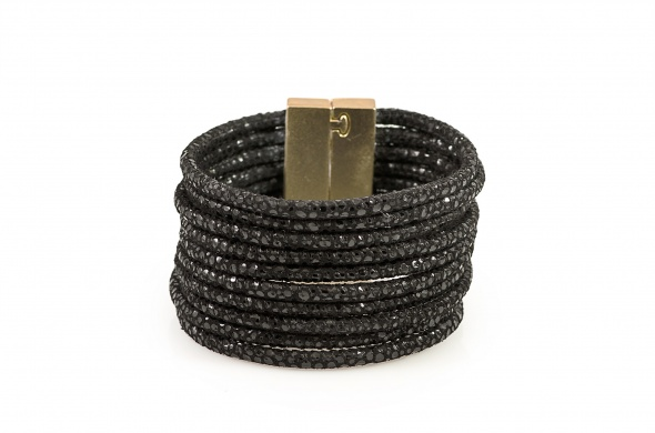 צמיד חגורה נחש זהב שחור