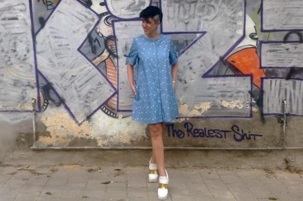 שמלת רוקנרול ג'ינס