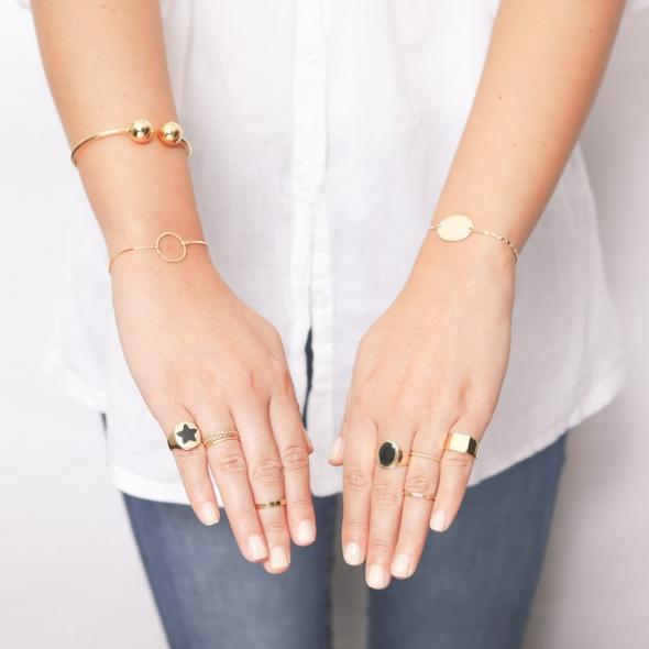 טבעת חותם אובל אלמנטים לבחירה- שחור!!!