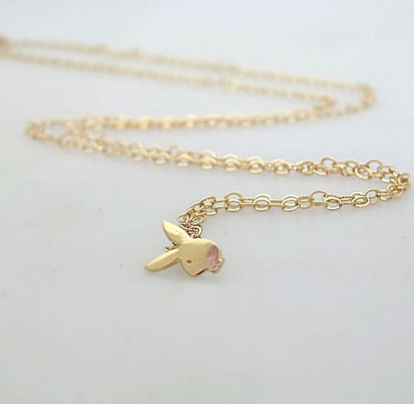 שרשרת זהב לקיץ - שרשראות לאישה - שרשרת גולדפילד עדינה - שרשרת ארנב. מתנה לבחורה, אישה