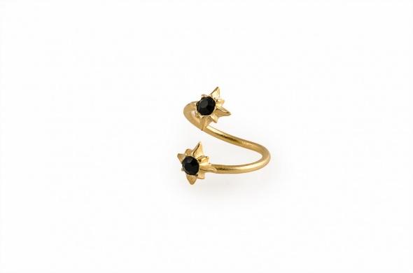 טבעת זר פתוח זהב